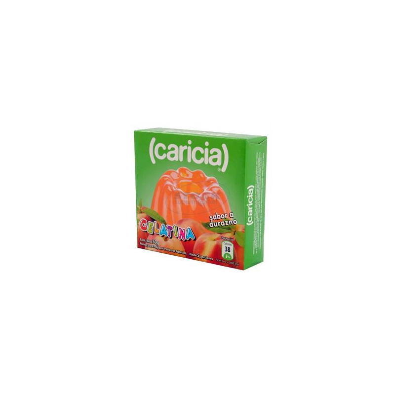 Gelatina Caricia Durazno 50 Gr.