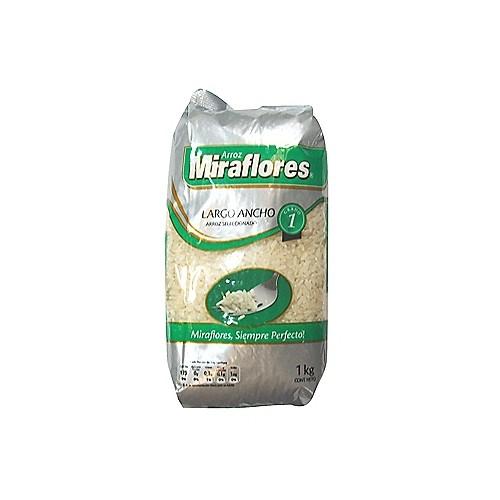 Arroz Miraflores Largo Ancho 1kg.