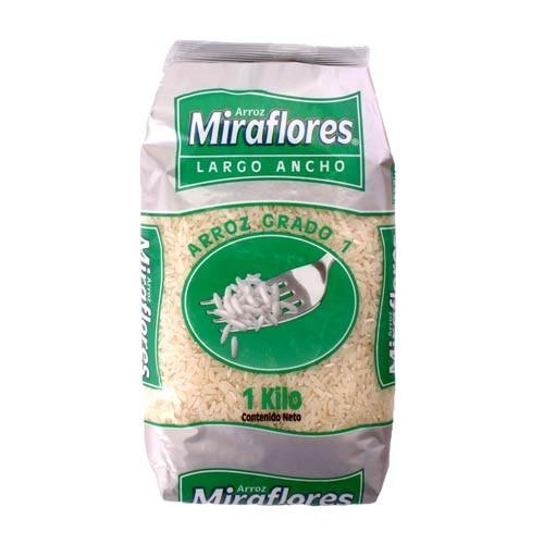 Arroz Miraflores Largo Ancho 1Kilo