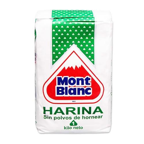 Mont Blanc Harina sin polvos para hornear 1 Kilo